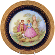 "SALE Gold Encrusted ""Object D'Art Limoges France"" Plate"
