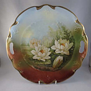 SALE Hand-Painted 3 Crowns, Germany Handled Bowl