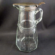 Vintage Syrup Pitcher Pat. 1915 and 1916