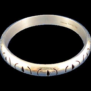 Sterling Silver Bangle Bracelet, Mexico