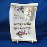SALE Vintage Home Sweet Home Porcelain Plaque