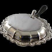 SALE Vintage Fancy Silver Plate Silent Butler