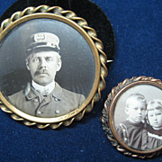 Vintage Gold Filled Picture Frame Brooches
