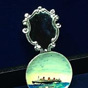 Queen Mary Souvenir Tea Caddy Spoon