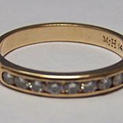 14K YG Diamond Ring / Wedding Band