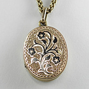 Victorian Gold-Filled Locket with Necklace