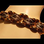 Damascene Rectangle Link Bracelet
