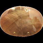 Vintage Abalone Shell Belt Buckle