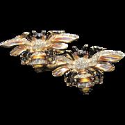 Katz Coro Craft Sterling Bumblebee Duette Pin  & Fur clips