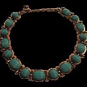 Vintage Trifari Choker Necklace Robin's Egg Blue
