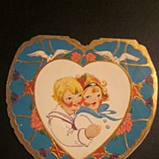 Beautiful Valentine with two all American kids in sailor suits