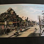 Vintage Postcard Coney Island Surf Avenue