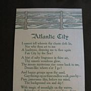 Vintage Postcard Atlantic City Poem
