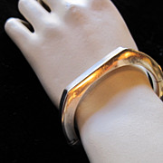 SALE PENDING Vintage 925 Sterling Italian Modernist Hinged Bracelet