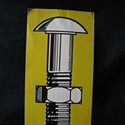 Vintage Tin Advertising Sign for Fluke Fastening Systems