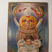 SOLD A. Jaegar Halloween Postcard Series # 5 ,  No Writing on Back - Red Tag Sale Item