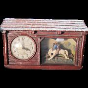 "Vintage, Haddon ""Ranch O"" Rocking Bronco Horse Clock, still working"