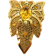 Art Deco Butterfly or Flower Form dress fur or shoe clip