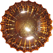 Mid Century Modern Gold or Amber Blenko Heavy Glass Ash tray - 1960s-Tobacciana