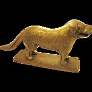 Antique Brass Nutcracker Dog