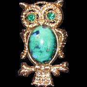 Vintage Owl Pendant or Brooch