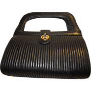 Vintage  Leather Handbag by Tano