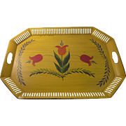 SOLD Vintage Hand Painted Toll ware Tray