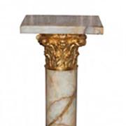 French Onyx & Dore Bronze Pedestal