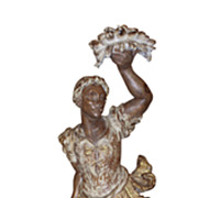Italian Carved Wood Figural Torchiere