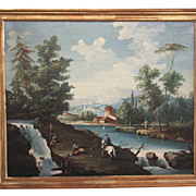 Continental Oil of River Scene