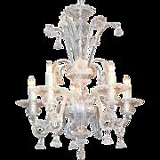 Fantastic Venetian Clear Glass Chandelier