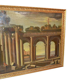 Roman Scene, Oil On Canvas