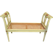 Painted Neoclassical Bench