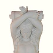 French Style Art Nouveau Caryatid