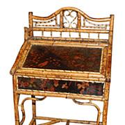 Antique Oriental Bamboo Desk