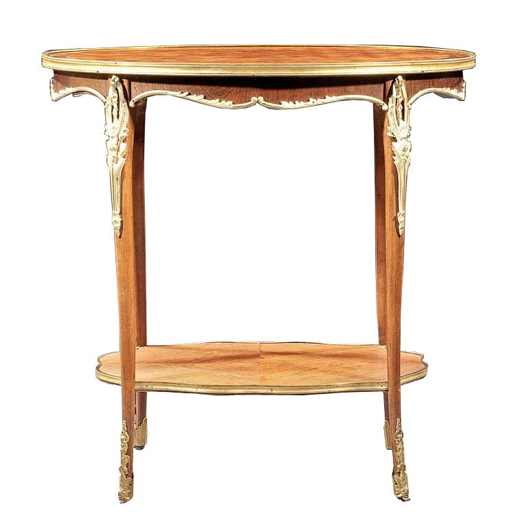 French Parquetry Side Table
