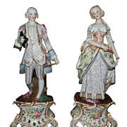 Pair Antique Porcelain Figures
