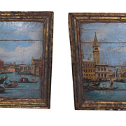 Pair 17th Century Roman Panels