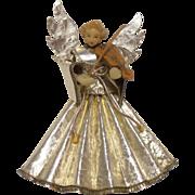 SOLD Wax Angel w Violin Christmas Decor