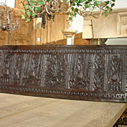 17th Century Walnut Wood Normandy Panel
