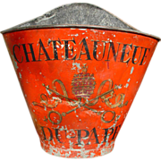 SOLD Painted 'Chateauneuf' Wine Grape Carrier, France C. 1920