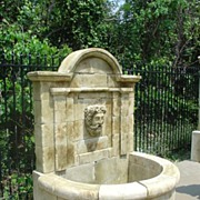 Aixoise Hand Carved Stone Fountain