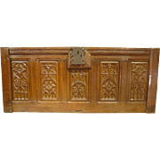 A Period Gothic Trunk Frontage from Picardie France, Oak, Circa 1500