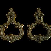 Rare Pair of Circa 1700 Bronze Door Knockers from Venice