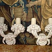 Large Pair of Antique French Cornucopia Sconces