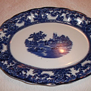 """SALE PENDING Flow Blue 16"""" """"Togo"""" Pattern by F.Winkle & Co.Colonial Pottery Sto"""