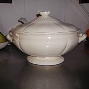 White Soup Tureen w/ Ladle