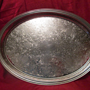 SALE Sheridan Silver Co Oval Hollowware Gallery Tray ~ Silver Plated Large & Lovely!