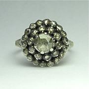 SALE PENDING Vintage Georgian Revival 14K & Sterling Silver Rose Cut Diamond Ring