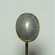 REDUCED Antique Edwardian 14K Gold Star Sapphire Stick Pin